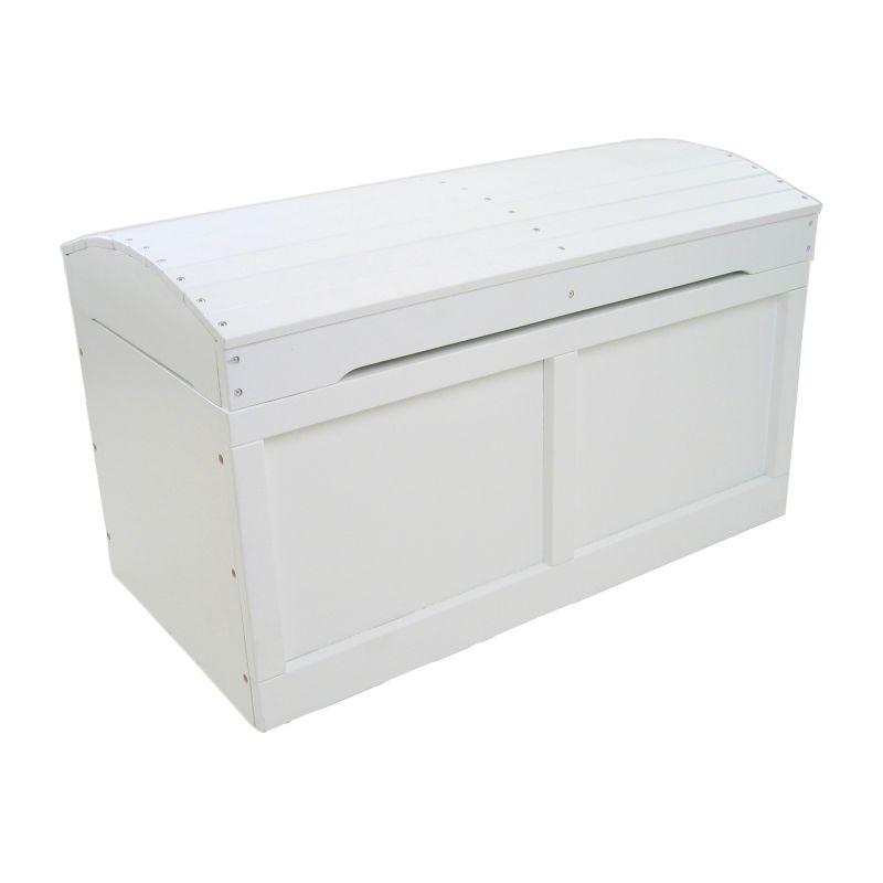 Badger Basket Barrel Top Toy Box, White