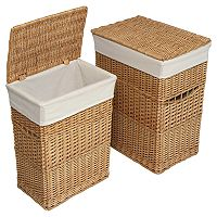 Badger Basket Wicker Hamper Set