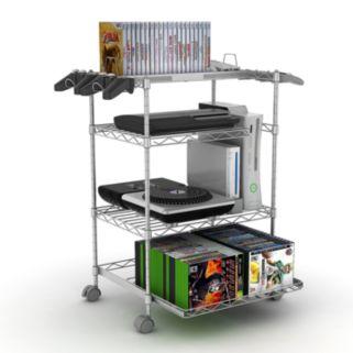 Atlantic Gamekeeper 4-Tier Multimedia Storage Cart