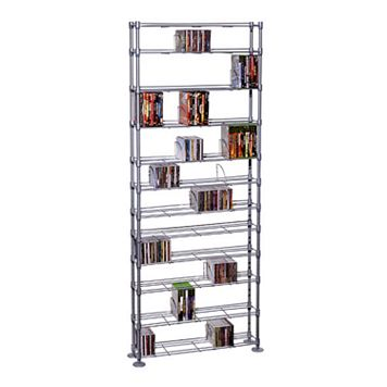Atlantic 12-Tier Multimedia Storage Shelf