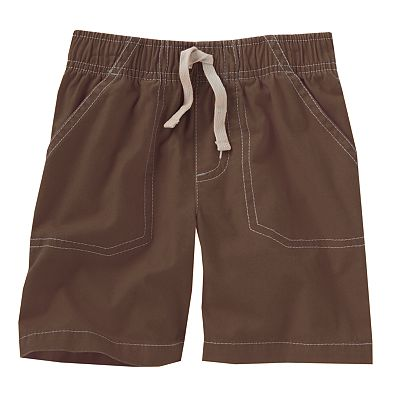 Jumping Beans Solid Canvas Shorts - Toddler