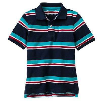 SONOMA life + style Striped Pique Polo - Boys 4-7x