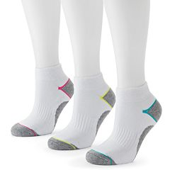 Tek Gear® 3 pkPerformance Quarter Socks