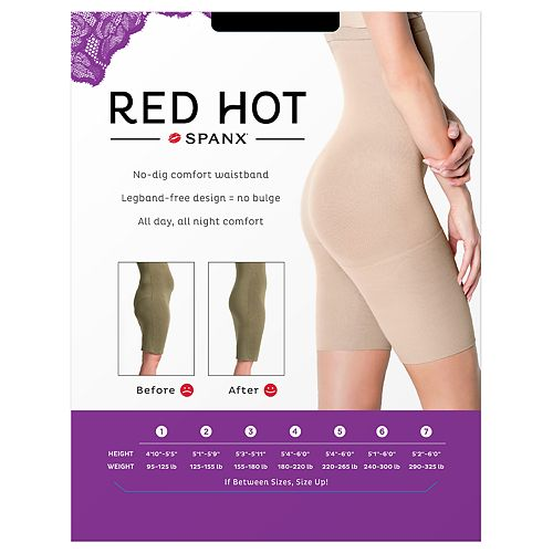 d5914c908 KOHL S. RED HOT BY SPANX HIGH-WAIST MID-THIGH SLIMMER - 1842