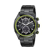 Citizen Eco-Drive Black Ion Plate Stainless Steel Chronograph Watch - CA0435-51E - Men