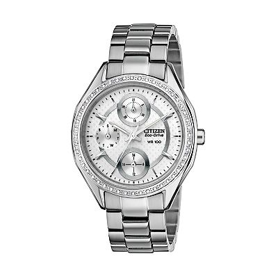 Citizen Eco-Drive Stainless Steel Crystal Watch - Made with Swarovski Elements - FD1060-55A - Women