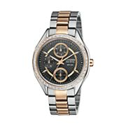 Citizen Eco-Drive Two Tone Stainless Steel Crystal Watch - Made with Swarovski Elements - FD1066-59H