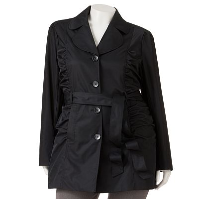Candie's Ruched Trench Coat - Juniors' Plus