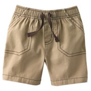 Jumping Beans Solid Canvas Shorts - Baby