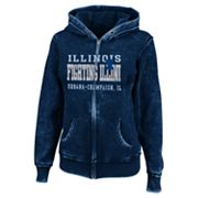 Illinois Fighting Illini Sport Princess II Burnout Fleece Hoodie - Women