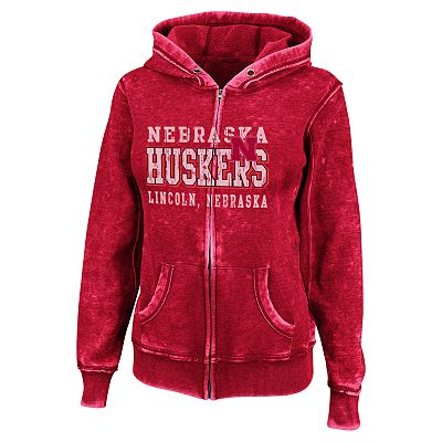Nebraska Cornhuskers Sport Princess II Burnout Fleece Hoodie - Women
