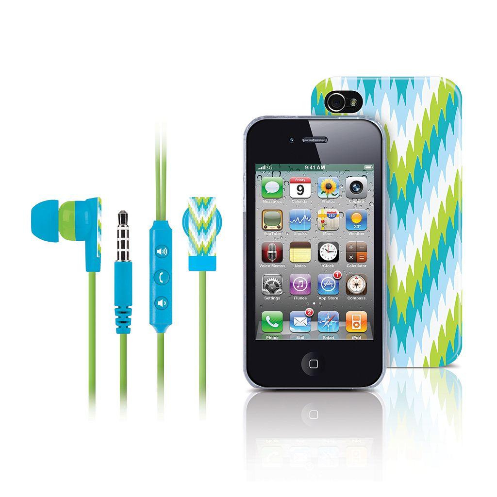 Merkury Innovations Riviera Amalfi iPhone 4 Headset& Cell Phone Case
