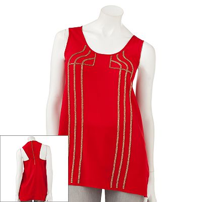 Rock and Republic Embellished Racerback Tank