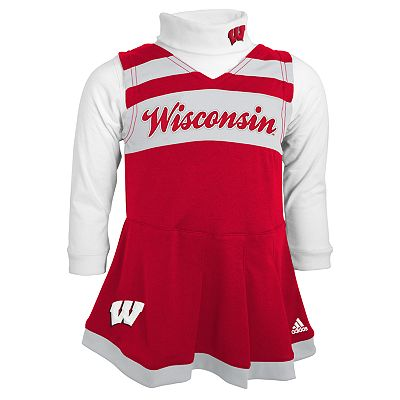 adidas Wisconsin Badgers Cheerleader Jumper and Bodysuit Set - Baby