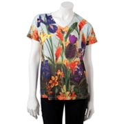 Croft and Barrow Floral Sublimation Tee