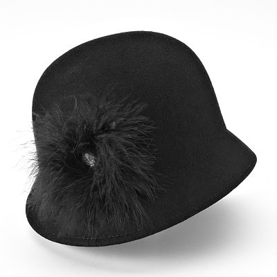 Croft and Barrow Feather Wool Cloche Hat
