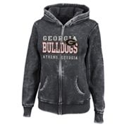 Georgia Bulldogs Sport Princess II Burnout Fleece Hoodie - Women