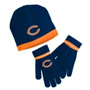 Reebok Chicago Bears Knit Cap and Gloves Set - Youth