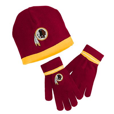 Reebok Washington Redskins Knit Cap and Gloves Set - Youth