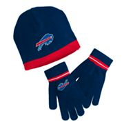 Reebok Buffalo Bills Knit Cap and Gloves Set - Youth
