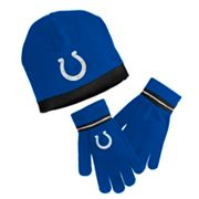 Reebok Indianapolis Colts Knit Cap and Gloves Set - Youth