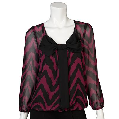 IZ Byer California Zigzag Bow Top - Juniors
