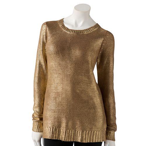 Women's Rock & Republic® Foil Sweater