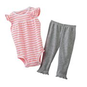 Carter's Neon Striped Bodysuit and Solid Pants Set - Baby