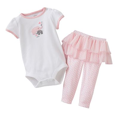 Carter's I Love You Elephant Bodysuit and Polka-Dot Tutu Pants Set - Baby