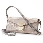 Dana Buchman Patti Snakeskin Cross-Body Bag
