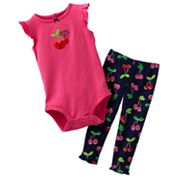 Carter's Cherry Bodysuit and Pants Set - Baby
