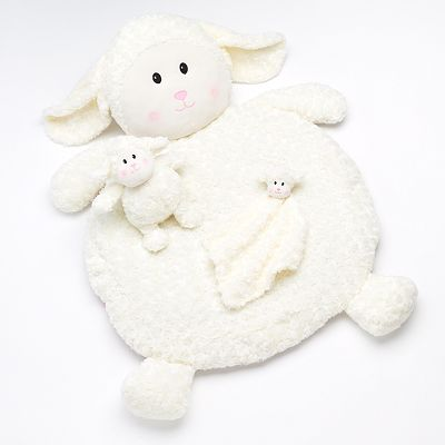 Bestever Lamb Plush Play Mat Set