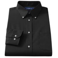 Mens Black Button Down Collar Dress Shirts Clothing | Kohl's