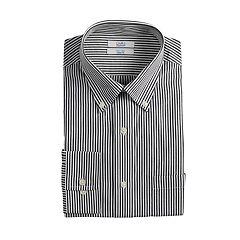 9be761cc6c2 Mens Black Stripe Dress Shirts Long Sleeve Tops, Clothing | Kohl's