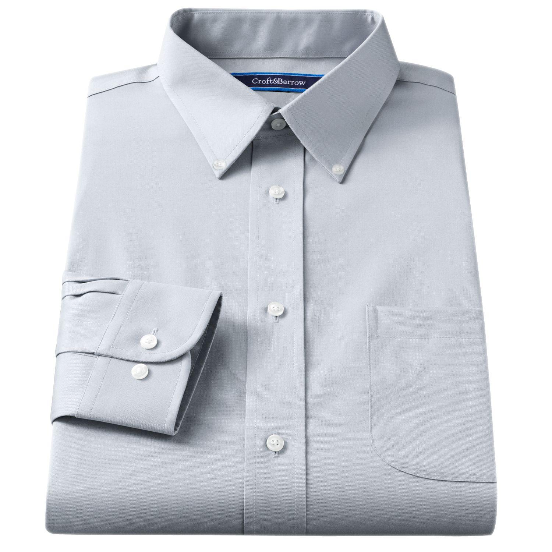 H m blue dress shirt 35 36