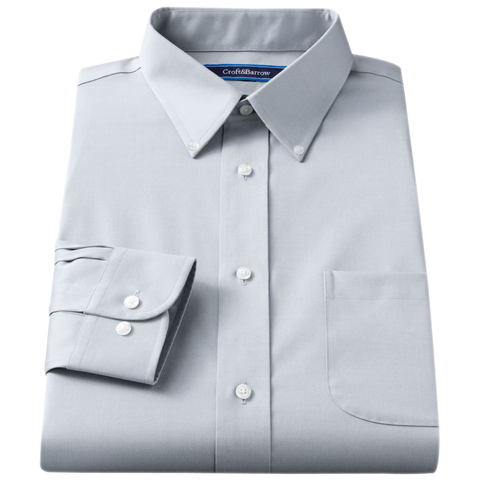 Croft & Barrow® Classic-Fit Easy Care Button-Down Collar Dress Shirt