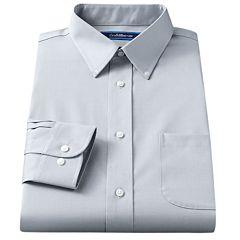 Men's Croft & Barrow® Classic-Fit Solid Broadcloth Button-Down Collar Dress Shirt