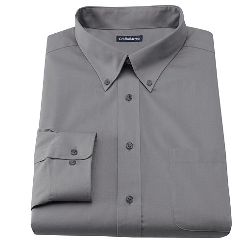 Men's Croft & Barrow® Slim-Fit Solid Easy Care Button-Down Collar Dress Shirt