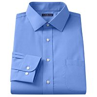 Men's Croft & Barrow® Classic-Fit Easy Care Solid Spread-Collar Dress Shirt