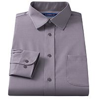 Men's Croft & Barrow® Classic-Fit Easy Care Solid Spread-Collar Dress Shirt