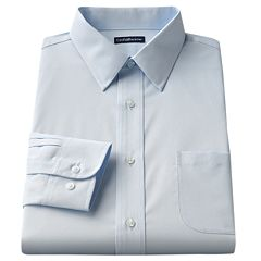 Men's Croft & Barrow® Fitted Solid Easy Care Point-Collar Dress Shirt