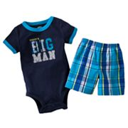 Carter's Daddy's Big Man Bodysuit and Shorts Set - Baby