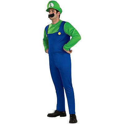 Nintendo Super Mario Bros. Luigi Costume - Adult