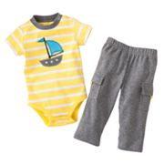 Carter's Sailboat Striped Bodysuit and Cargo Pants Set - Baby