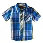 Tony Hawk Encounter Plaid Woven Button-Down Shirt - Boys 4-7x