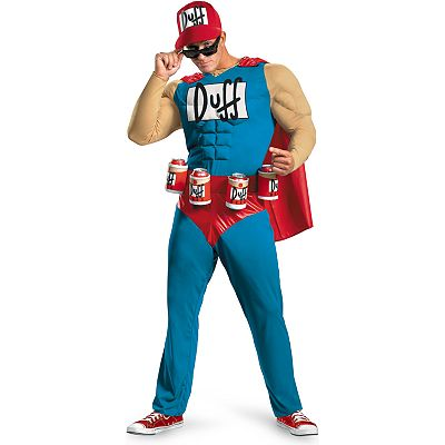 The Simpsons Duffman Classic Muscle Costume - Adult