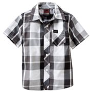 Tony Hawk Plaid Woven Button-Down Shirt - Toddler