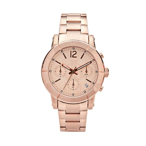 Jennifer Lopez Rose Gold Tone Stainless Steel Chronograph Watch - Women