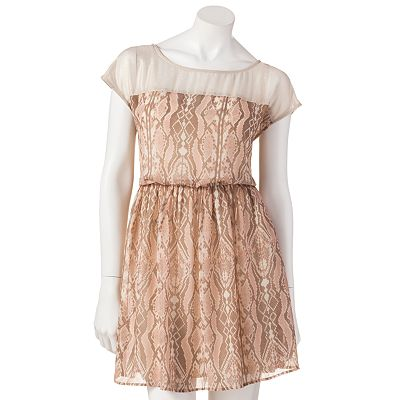 Mudd Snakeskin Dress - Juniors