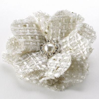 Apt. 9 Tweed Floral Rhinestone Hair Clip and Pin